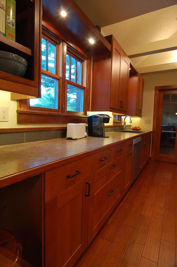 Plastic Laminate Countertop with Wood Edge Des Moines IA