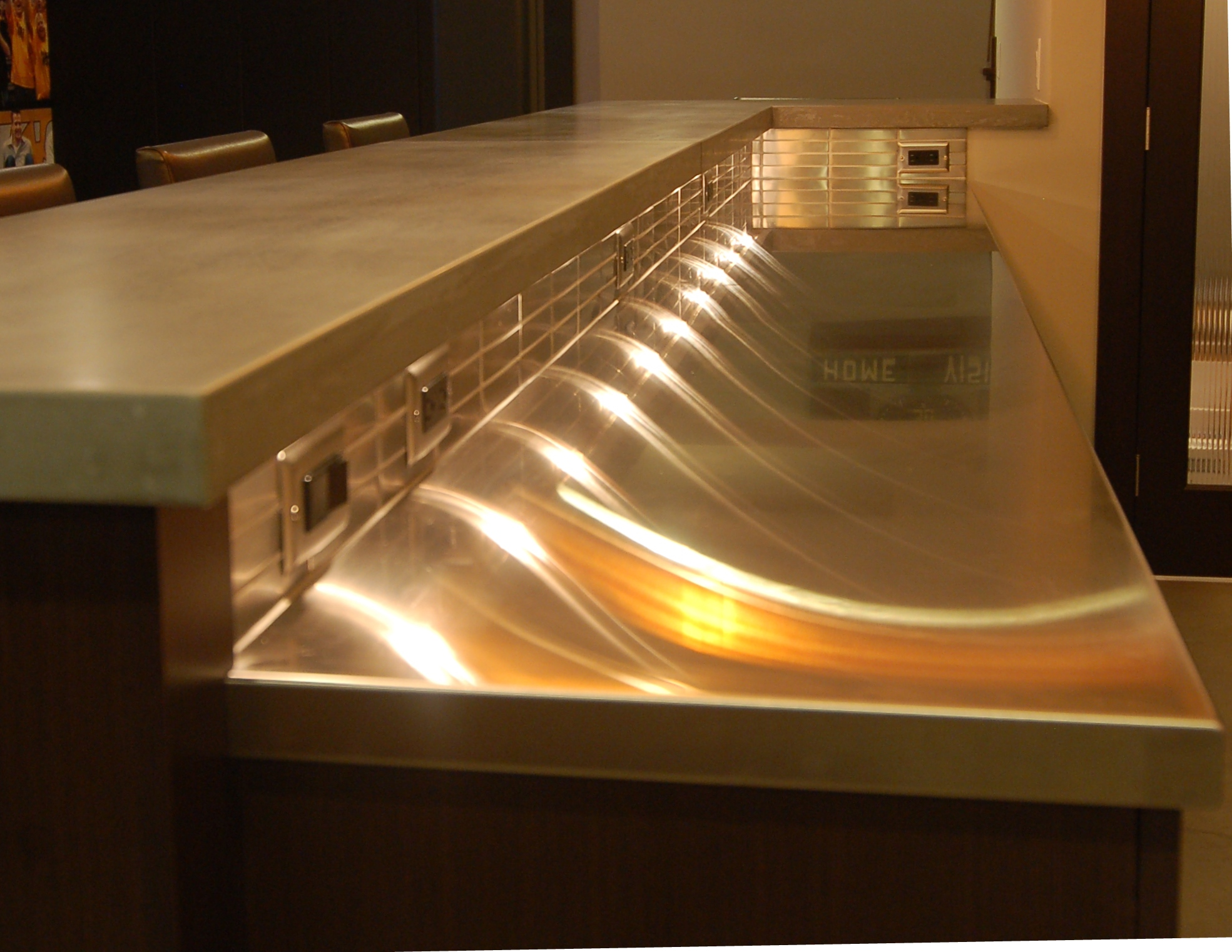 Concrete and Stainless Steel Countertops Clive Iowa