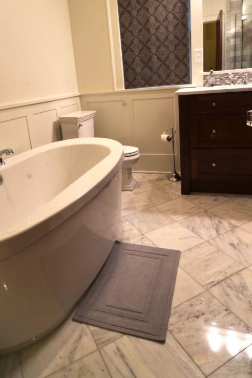 Polished marble.
