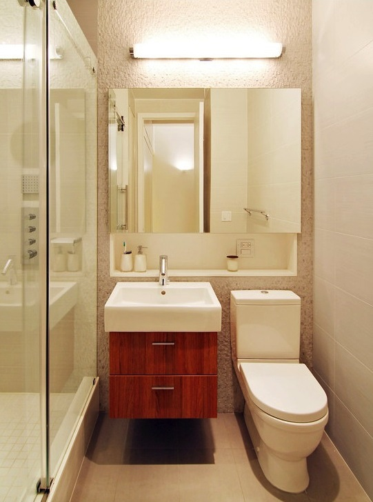 small bathroom oversized mirror