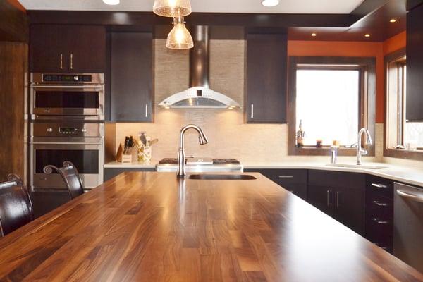 Walnut Butcher Block Countertop Kitchen Remodel Central Iowa