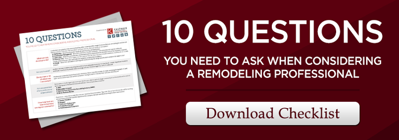 10 questions to ask a remodeling professional
